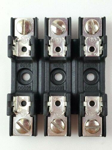 """Bussmann S-8301-3 Fuse Holder 3 Pole 30 Amp 300v For Glass Fuses 1/4"""" X 1-1/4"""""""