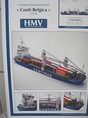 Conti Belegica Containerschiff Schiff Kartonbausatz NEU Bastelbogen Kartonmodell