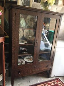 Antique Solid Oak Cabinet
