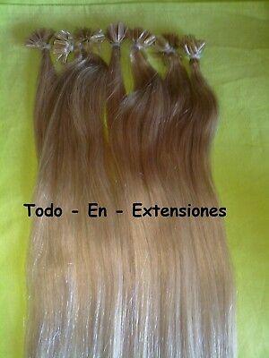 50 Extensiones de queratina PELO NATURAL ,calidad remy, RUBIO DORADO Nº 27