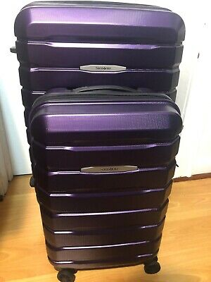 Samsonite Tech 2.0 2-piece Hardside Spinner Set in Purple open box