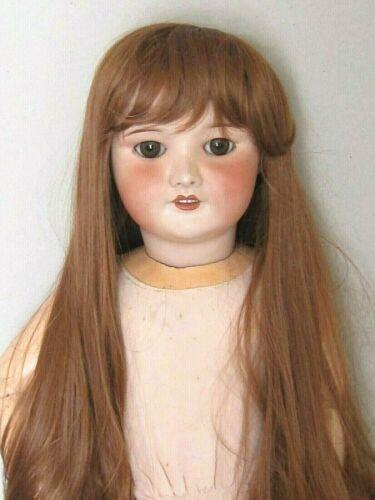 """perruque Auburn châtain Jumeau®T38/40cm-poupée ancienne moderne-doll wig sz15"""""""