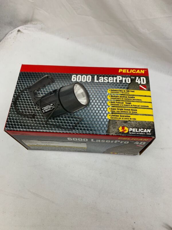 Pelican 6000 LaserPro 4D Submersible Spotlight Scuba Dive Light Xenon Beam