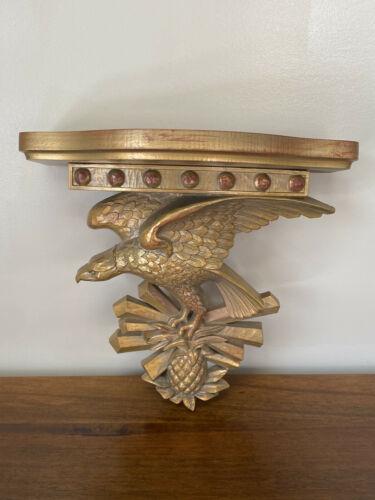 Syroco Gilt Eagle Bracket Wall Shelf