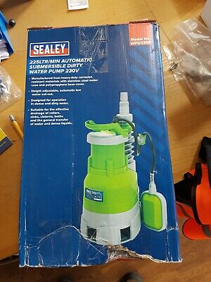 SEALEY WPD235P, 225L/MIN AUTOMATIC SUBMERSIBLE DIRTY WATER PUMP, 230V