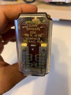 Struthers & Dunn 219BBXPL-120VAC, Power Relay, 10A, 60 Hz, 120vac Power Relay