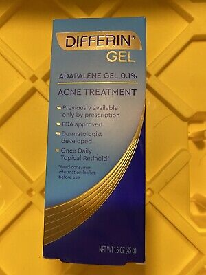 Differin Adapalene Gel 0.1% Acne Treatment, 1.6 oz exp:10/2021