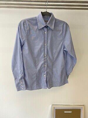 Katharine Hamnett Light Blue Cotton Tailored Long Sleeve Shirt UK S