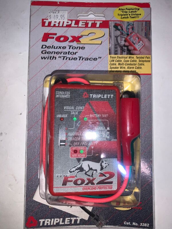 TRIPLETT FOX 2 The Luxe Tone Generator With True Trace Brand New In Sealed Pkg.