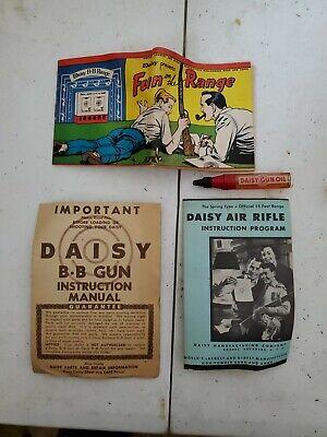 Vintage Daisy BB Gun Rifle Adverting Brochure Instruction Manuals