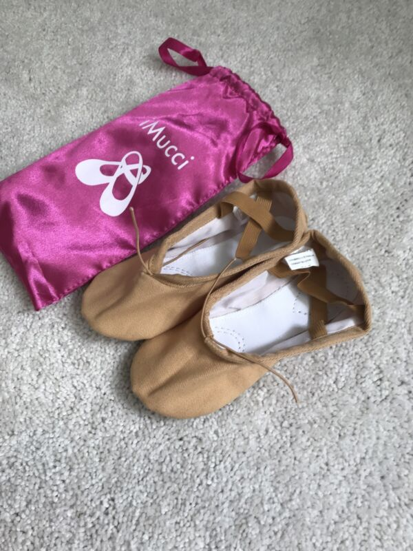 Girls Ballet Slippers Nude New Size 27, US Girls Size 10