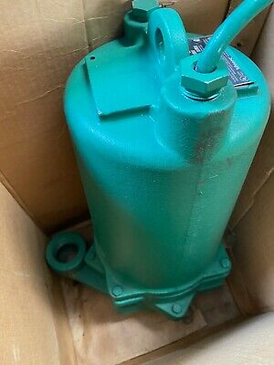 Myers P102 Effluent Pump 1.0 Hp 230v 1 Ph Double Seal 20 Cord