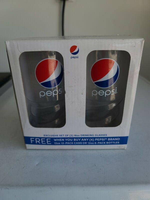 Vintage Pepsi Glasses NIB