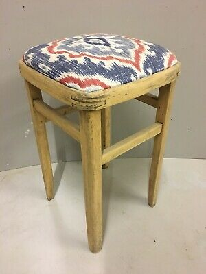 Antique Wooden Pine Stool Seat Chair