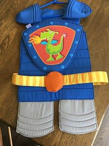 Knight costume and mask for dress up