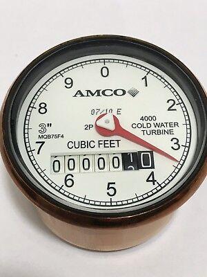 Elster Amco 3 4000 Turbine Water Meter Register Clock 2p Mqb754