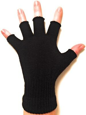 Unisex Black Fingerless Gloves - Winter Gloves for Kids and - Black Gloves For Kids