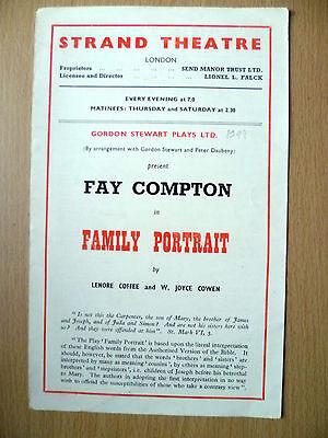 1948 Strand Threare Programme: FAMILY PORTRAIT by Lenore Coffee & W J Cowen