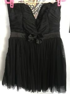 Ladies black short semi formal dress