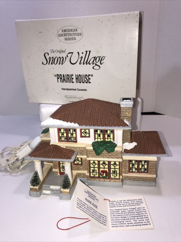 PRAIRIE HOUSE #51560 Dept 56 Original Snow Village Retired AMERICAN ARCHITECHURE