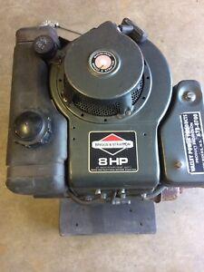 8 hp. Briggs & Stratton