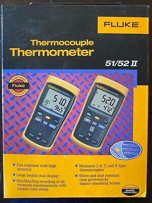 Fluke 52 Ii Thermocouple Thermometer Series Ii New In Box