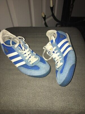 ADIDAS ORIGINALS DRAGON BLUE TRAINERS - SIZE UK 9