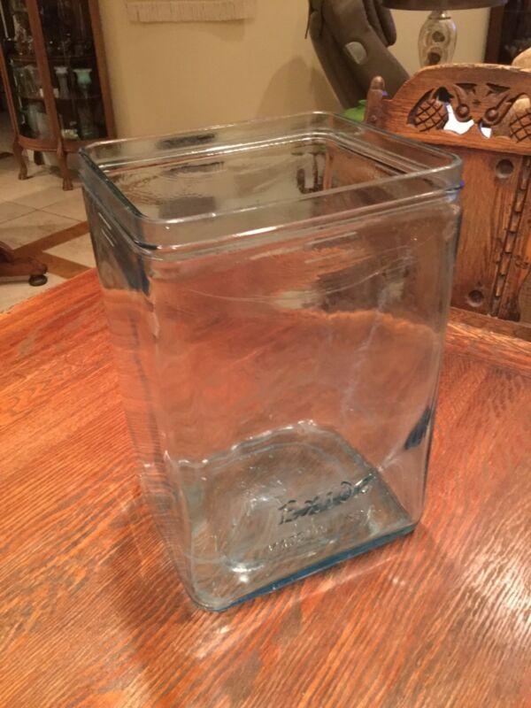 Large Aqua Green Glass Exide Battery Jar 15X9 3/4X8 5/8 EMGO 11 18628