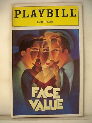 FACE VALUE Playbill JANE KRAKOWSKI / MARK LINN-BAKER Tryout BOSTON Flop 1993 for sale  Shipping to India