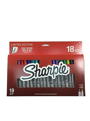 Sharpie 18ct Ultra Fine Point Permanent Markers Limited Edition Easel Box