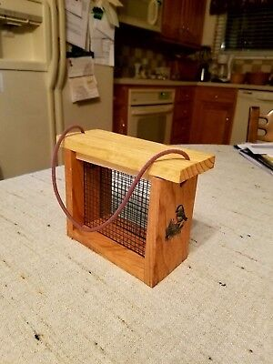 HOMEMADE WOODEN SUET FEEDERS