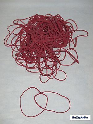 Gummibänder, Gummiringe, in verschiedene größen Farbe rot je 50g-Beutel