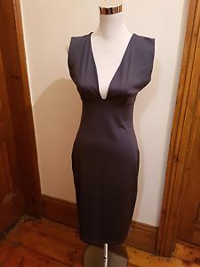 MORRISSEY dark grey plunged neck dress West Hindmarsh Charles Sturt Area Preview