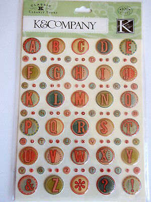 K&CO CLEARLY YOURS STICKERS - CLASSIC K  BAILEY ALPHABET ()