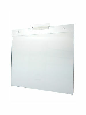 Lot Of 6 Clear Acrylic 11w X 8.5h Slatwall Wall Mount Ad Frame Sign Holder