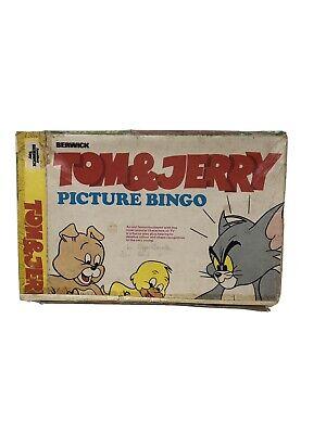 VINTAGE 1973 BERWICK GAMES  TOM & JERRY PICTURE BINGO