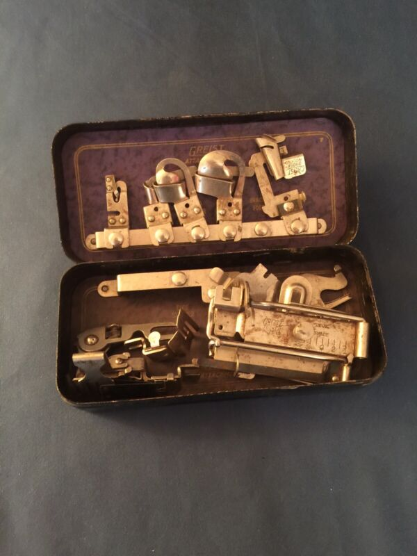 Vintage Antique Geist Attachments For Sewing Machine