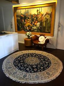 Vintage Nain Persian Silk & Wool Handmade Rug 200 X 200 Surry Hills Inner Sydney Preview