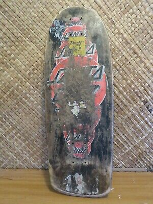 Santa Cruz OG 1985 Team Deck Roskopp Peters era used skateboard road rider NHS