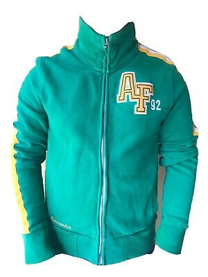 VINTAGE ABERCROMBIE AND FITCH MENS GREEN TRACK TOP SIZE MEDIUM