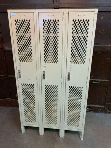 USED metal lockers Gym Industrial Lyon 5012 putty corridor school steel