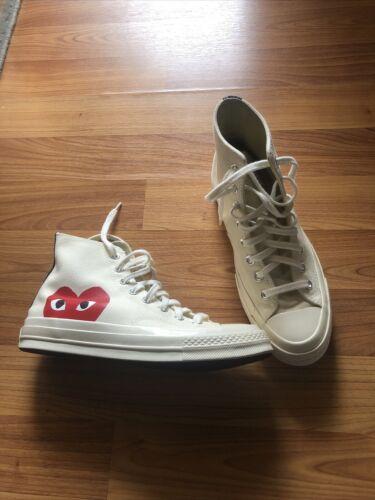 CDG Comme Des Garcons Converse Play hidden heart high-top unisex white sneaker