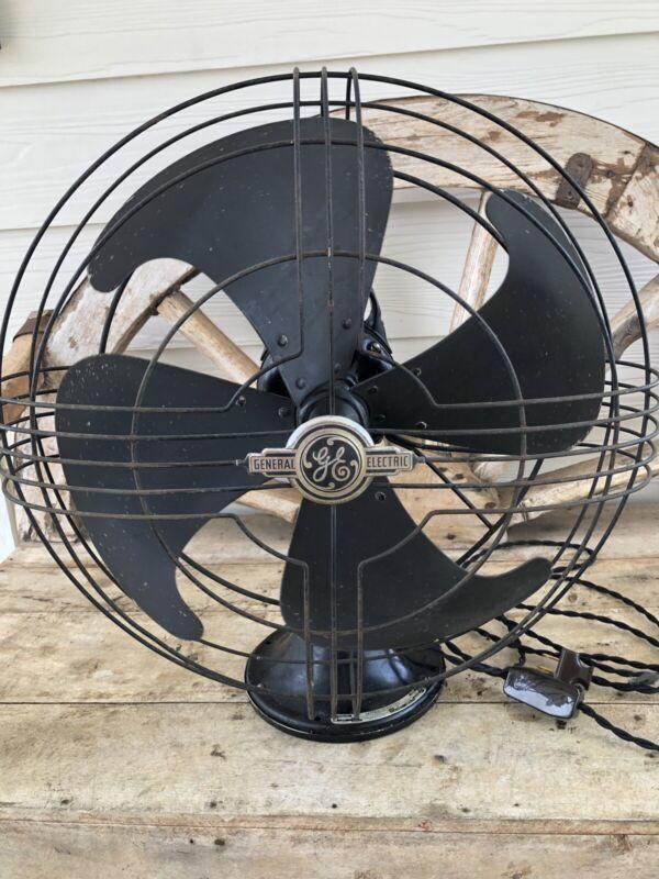 Antique 30's 40's General Electric Vortalex Fan 16-18 inch Form V