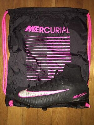 Nike Mercurial Superfly V FG Soccer Cleats Black Pink Size 8
