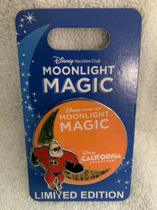 Disney Disneyland DVC Moonlight Magic Pin Mr Incredible LE 1200