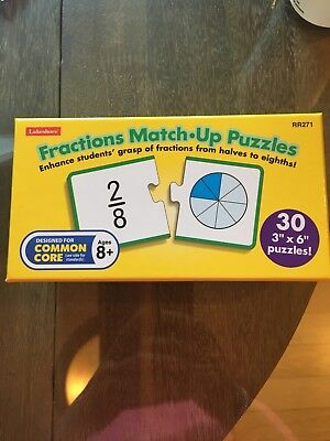 Lakeshore Fractions Puzzle Math Activity Early Childhood Teacher Supply Grade 2