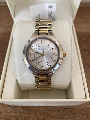 Anne Klein Women's AK/3109ASVTT  Two-Tone Bracelet Watch NWT