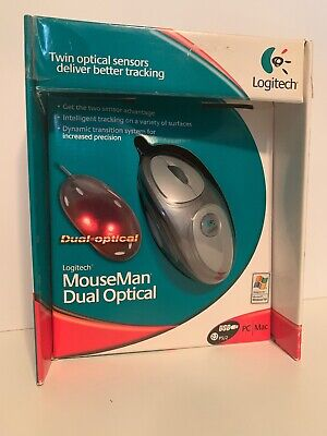 New Logitech Mouseman Dual Optical Mouse In Sealed Factory Box Dual Optical Mouse
