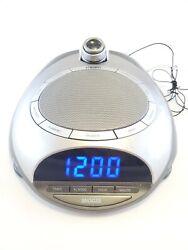 Homedics SS-4500 SoundSpa AM/FM Clock Radio 6 Nature Sound Sleep Therapy- Tested