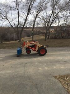 Case 400 series garden tractor with loader and tiller